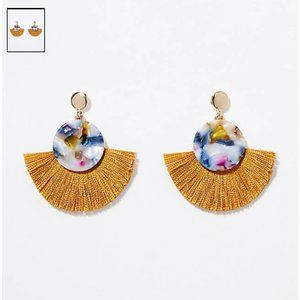 NWT Loft Fringe Resin Drop Earrings